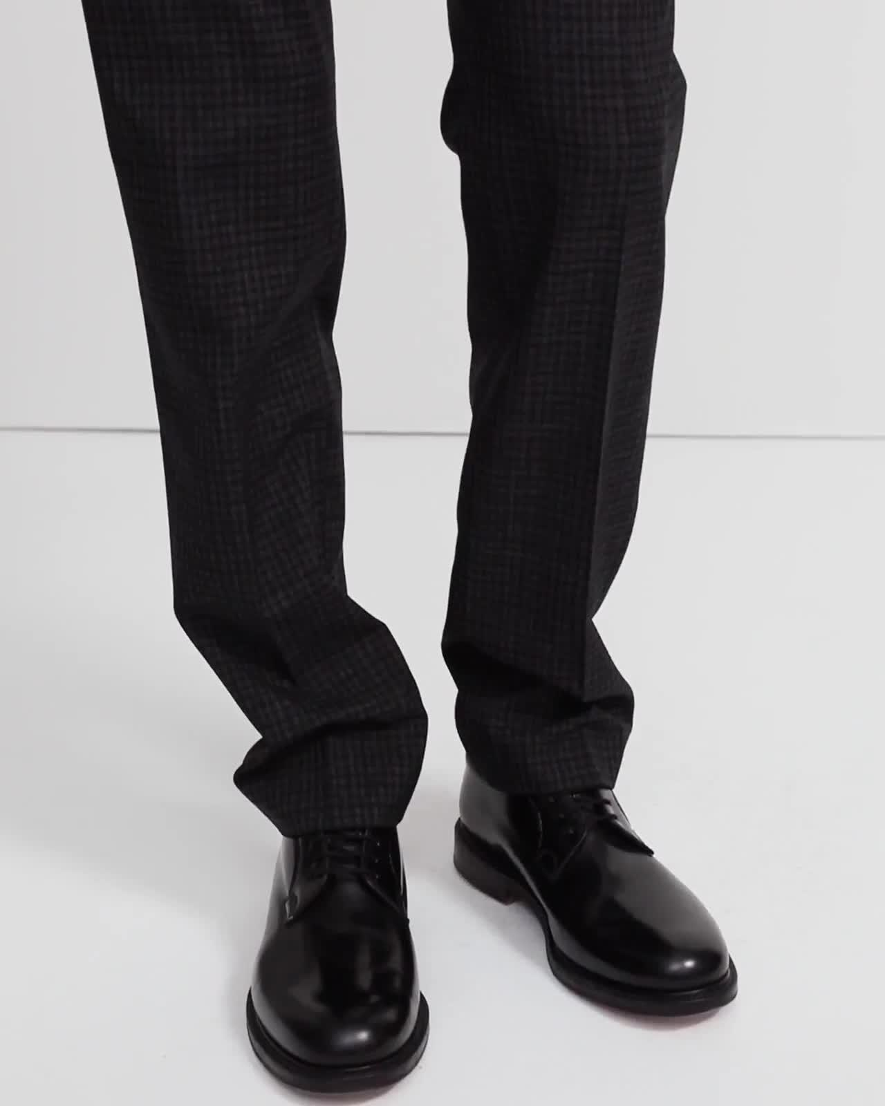 Wool Checkerboard Mayer Pant