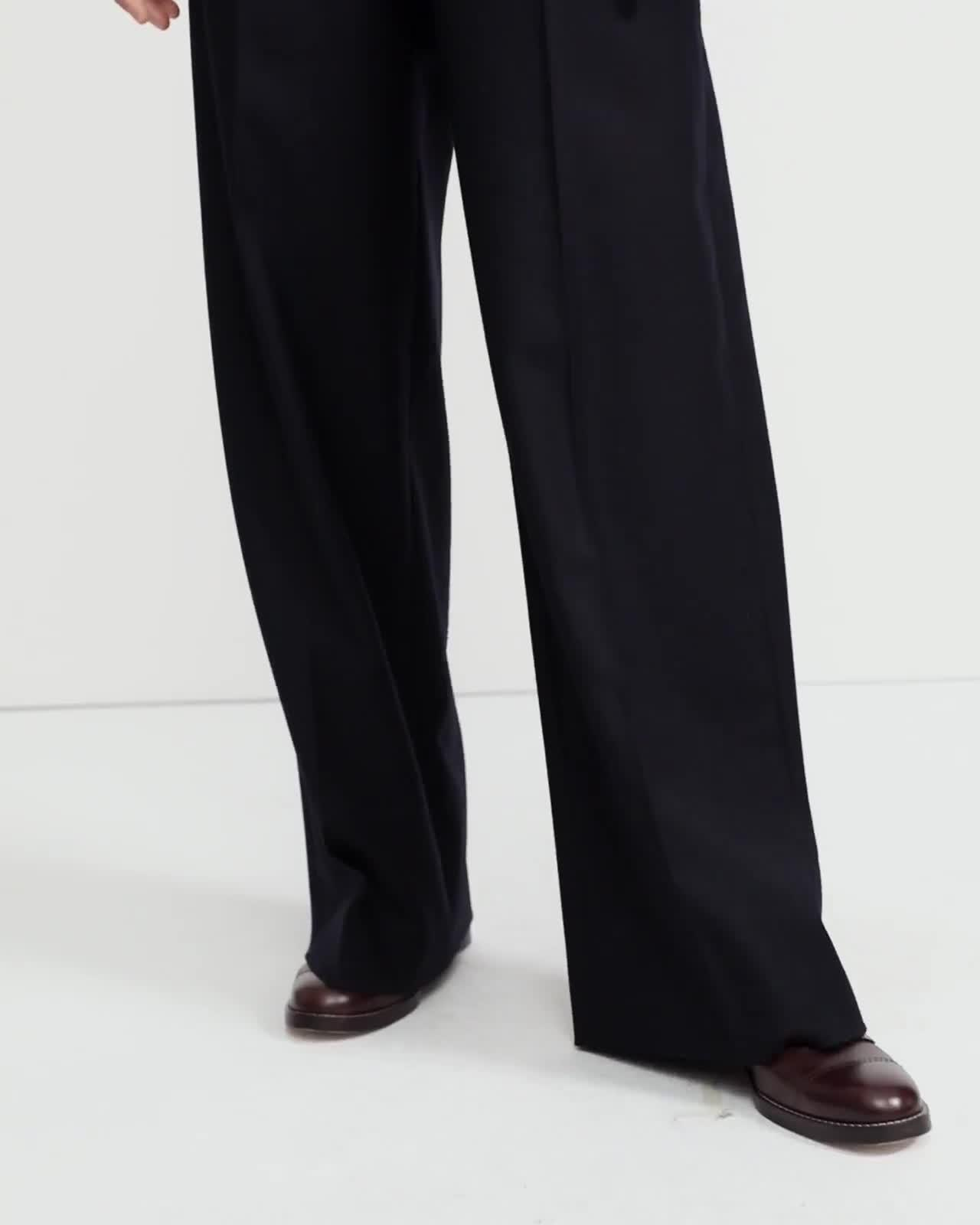 Sleek Flannel Wide Pant