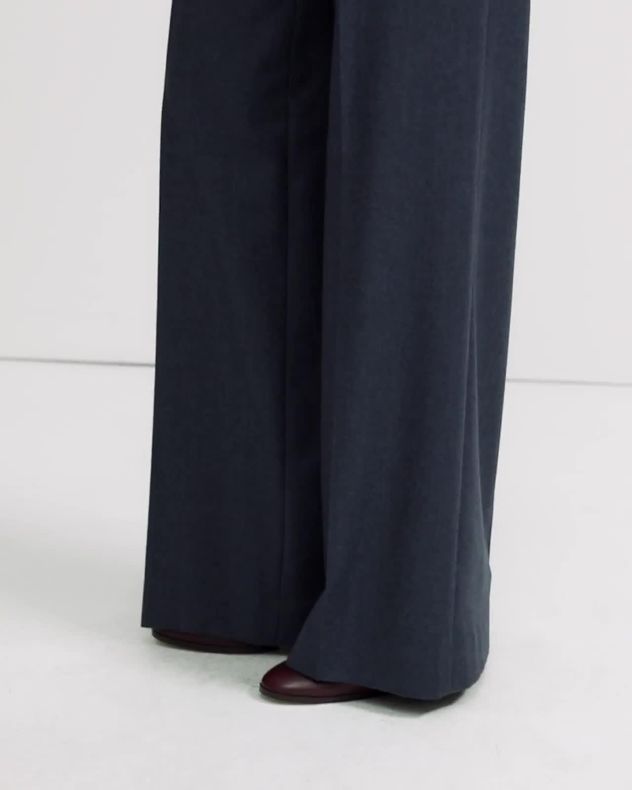 Sleek Flannel Wide Pant