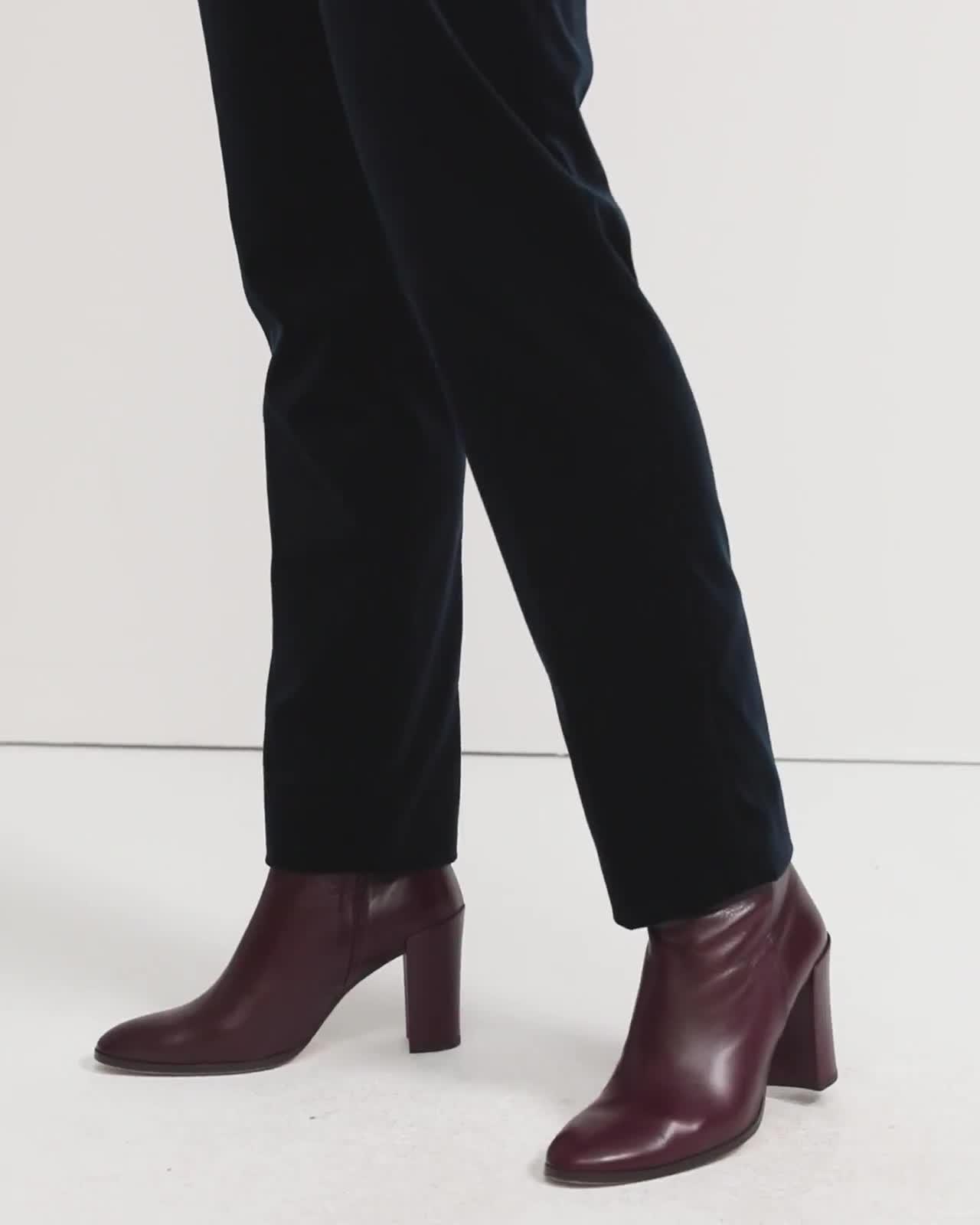 Stretch Velvet Tailored Trouser