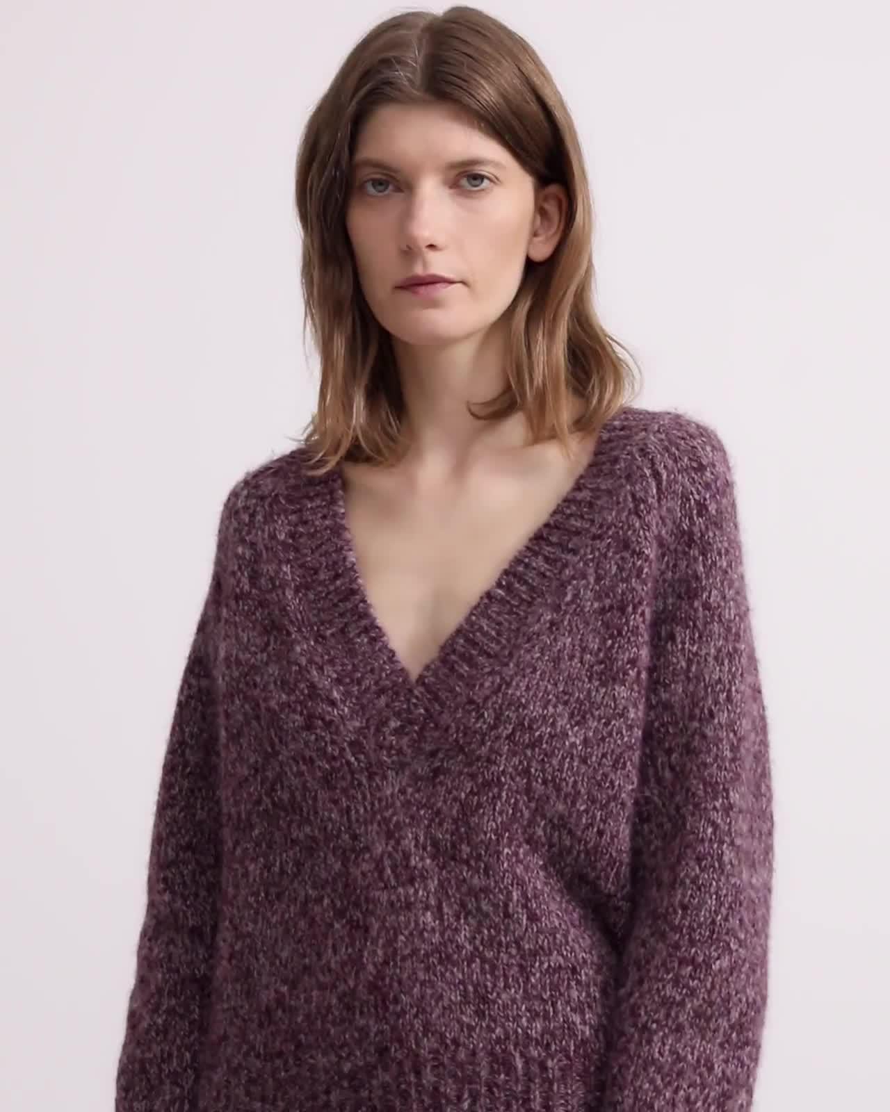 Alpaca Marled V-Neck Sweater