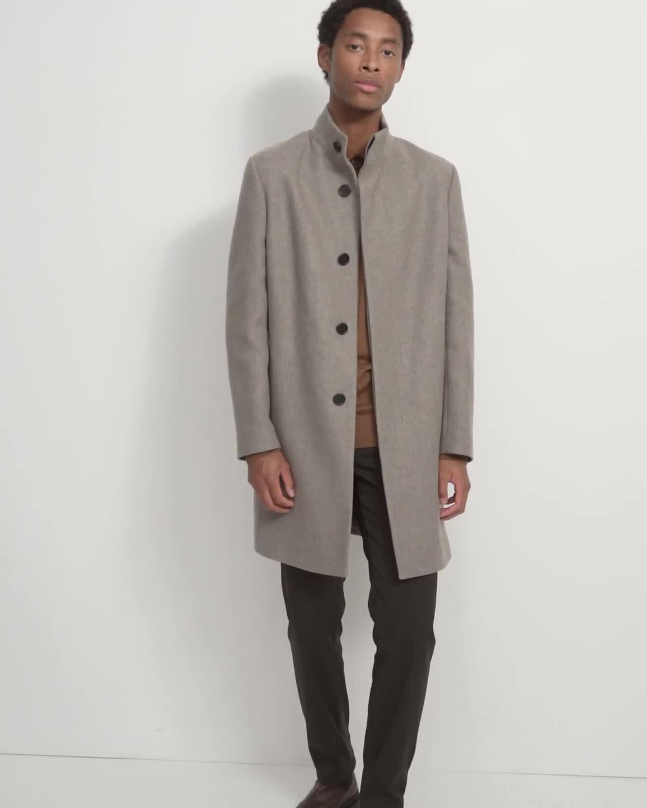 Belvin Coat in Recycled Wool Melton
