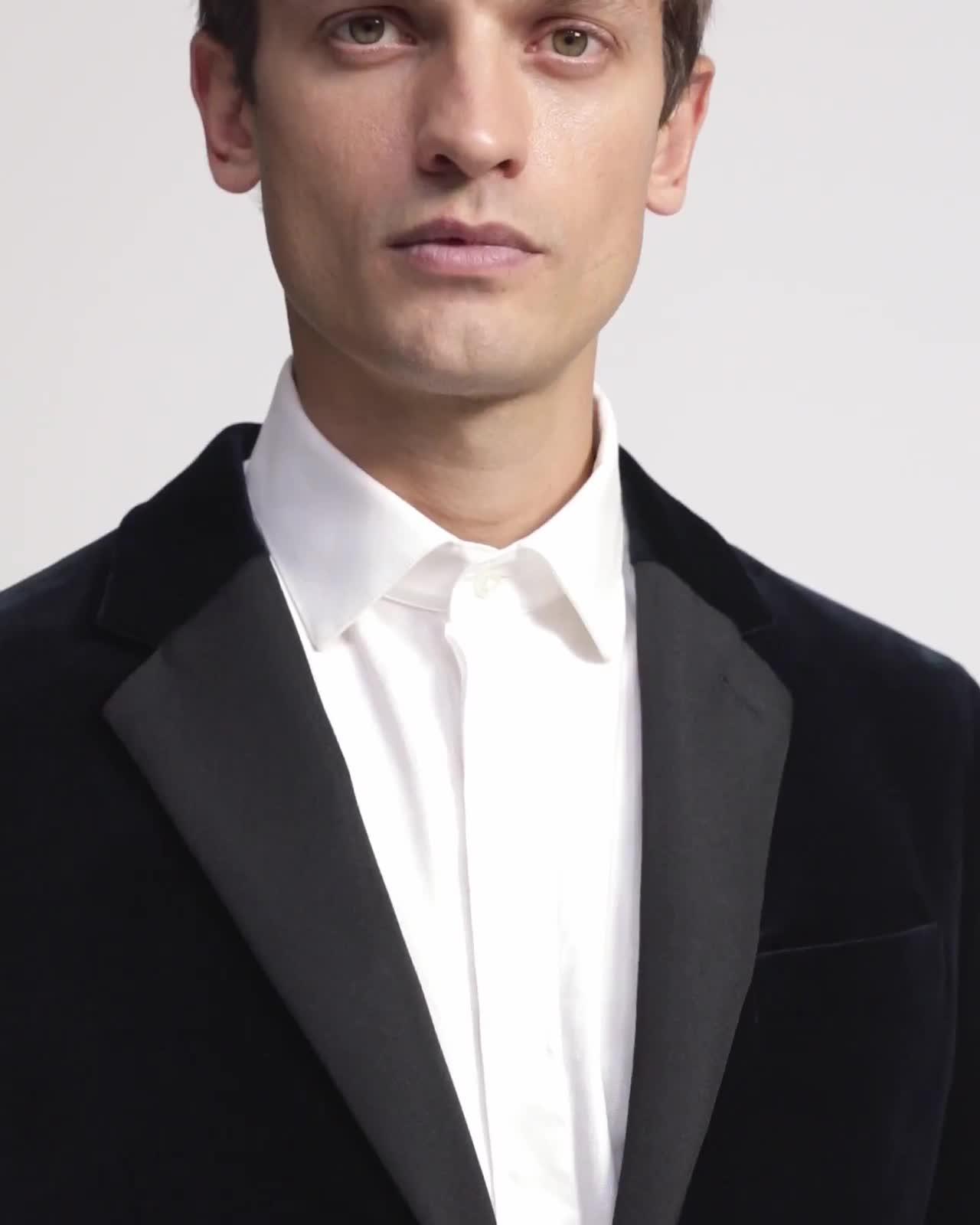 Chambers Tuxedo Blazer in Velvet