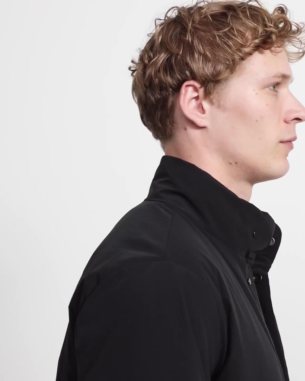 Paper Nylon Stand Collar Down Coat