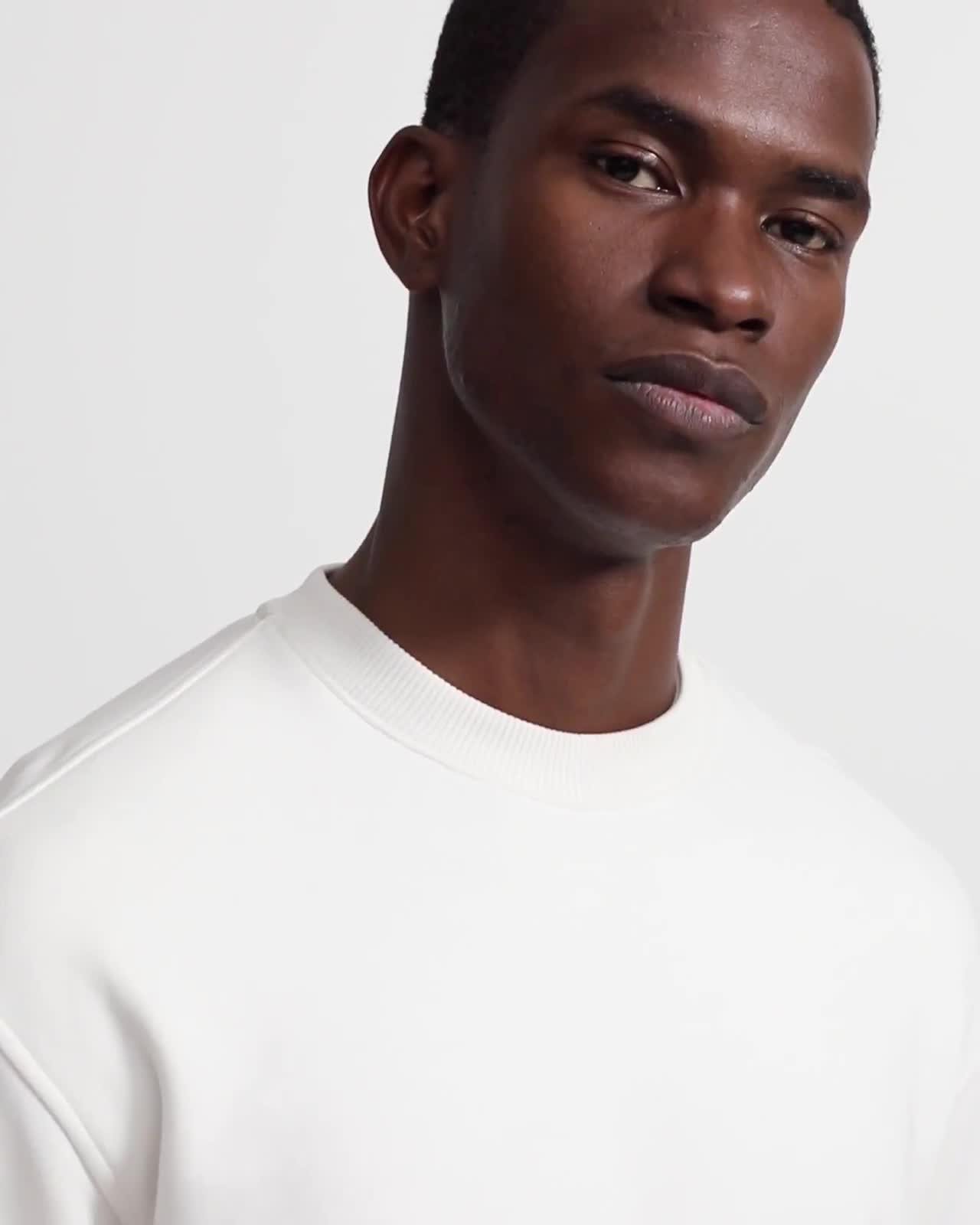 Cotton Fleece Box Sweatshirt