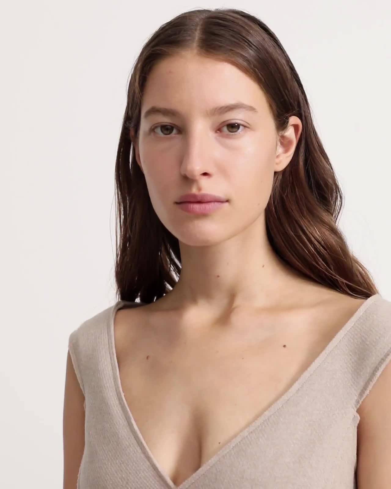 Heavy Wool Twill Off The Shoulder Dress