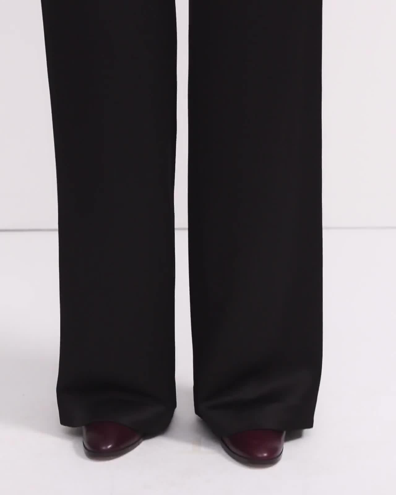 Crepe Satin Clean Wide Leg Pant