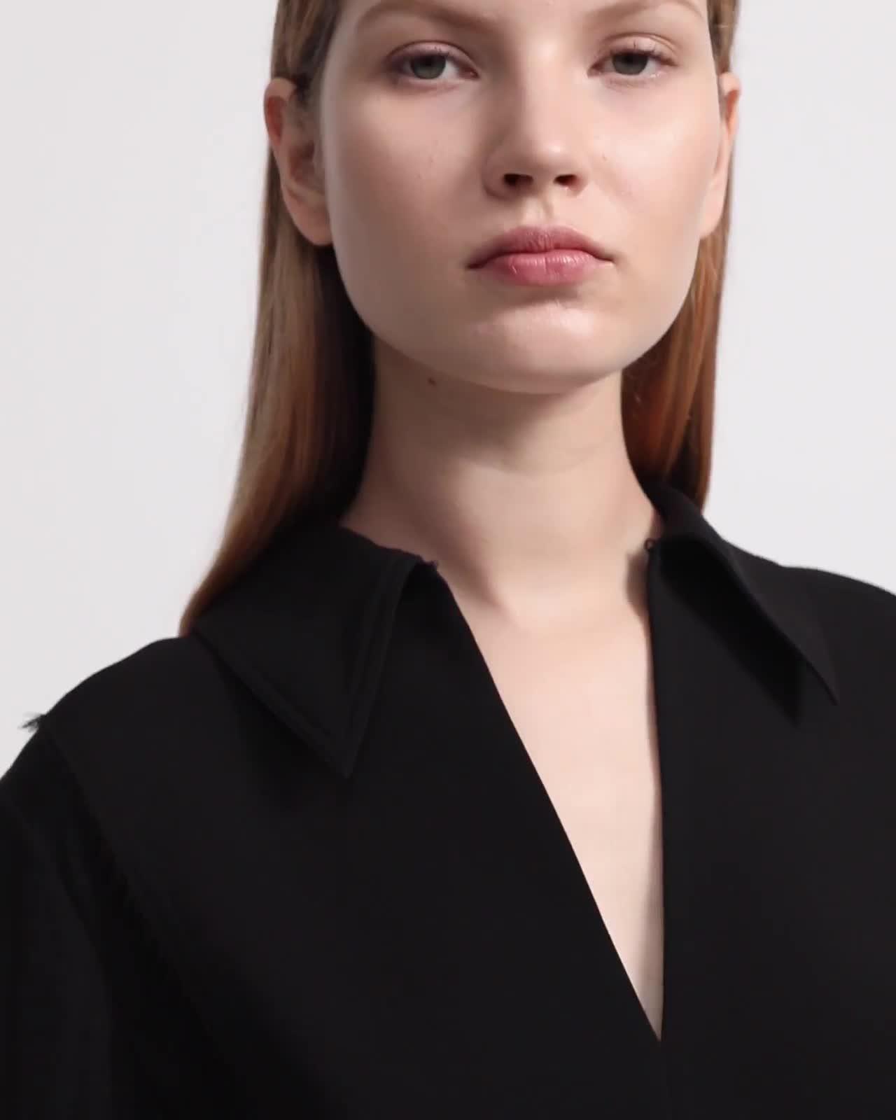 Yoke Popover Shirt in Silk