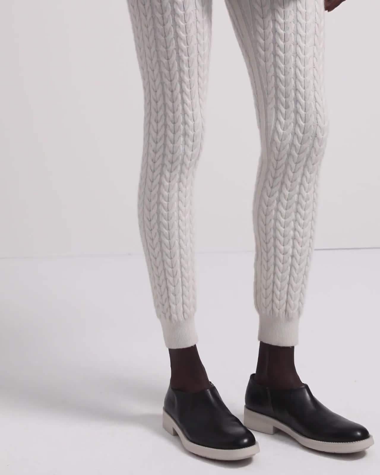 Legging in Cable Knit Cashmere