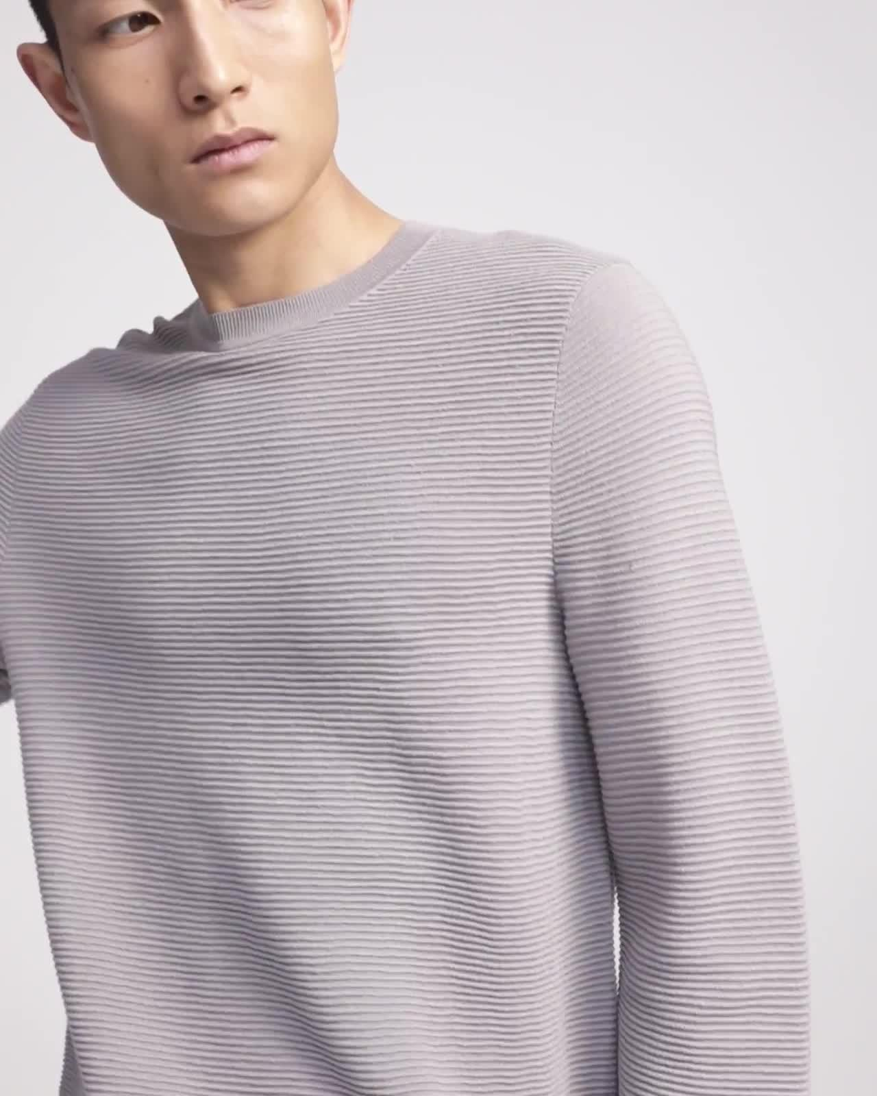Crewneck Sweater in Washable Merino Wool