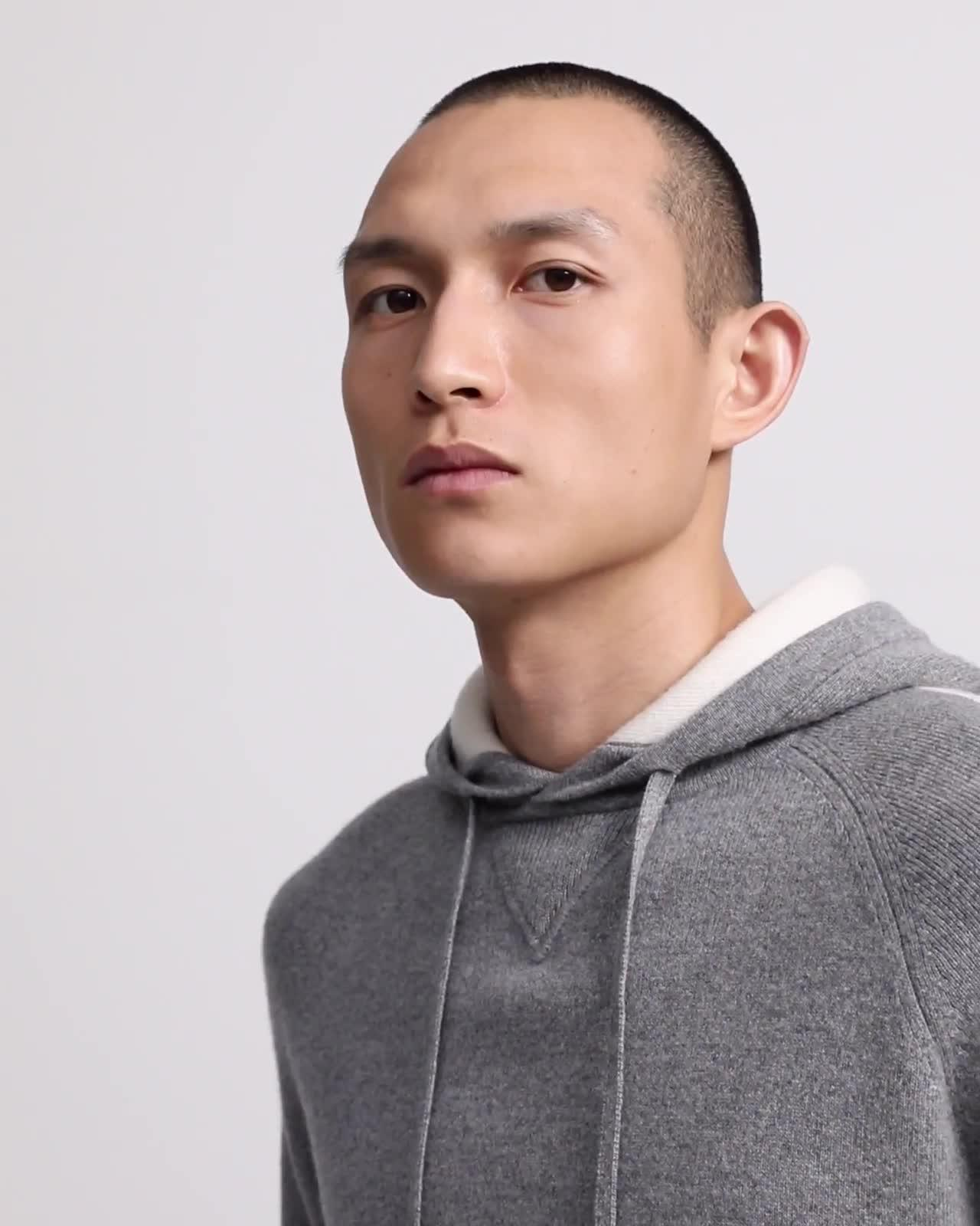 Wool-Cashmere Hoodie With Stripe
