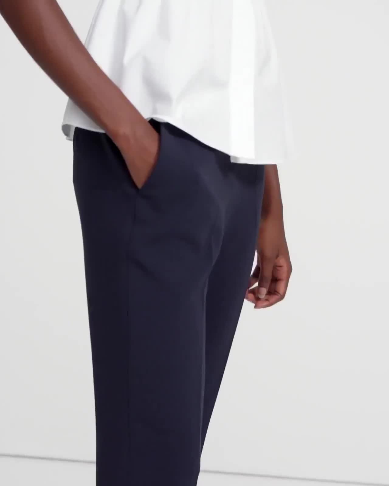 Treeca Pull-On Pant in Crepe