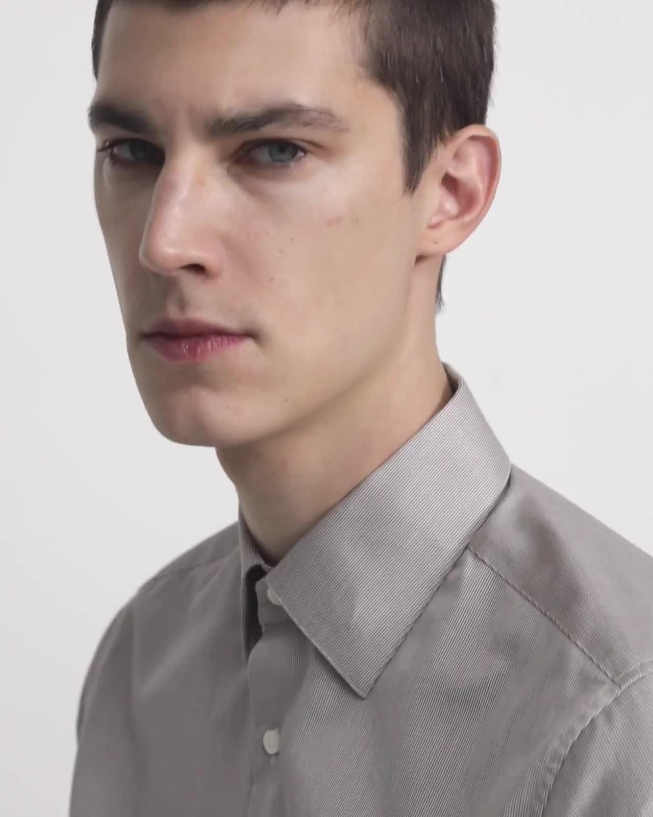 Cedrick Dress Shirt in Printed Cotton