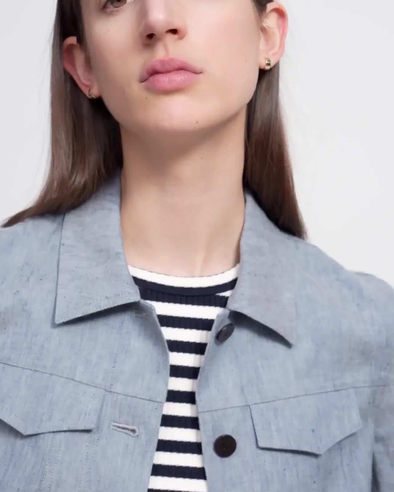 Jean Jacket in Linen Denim