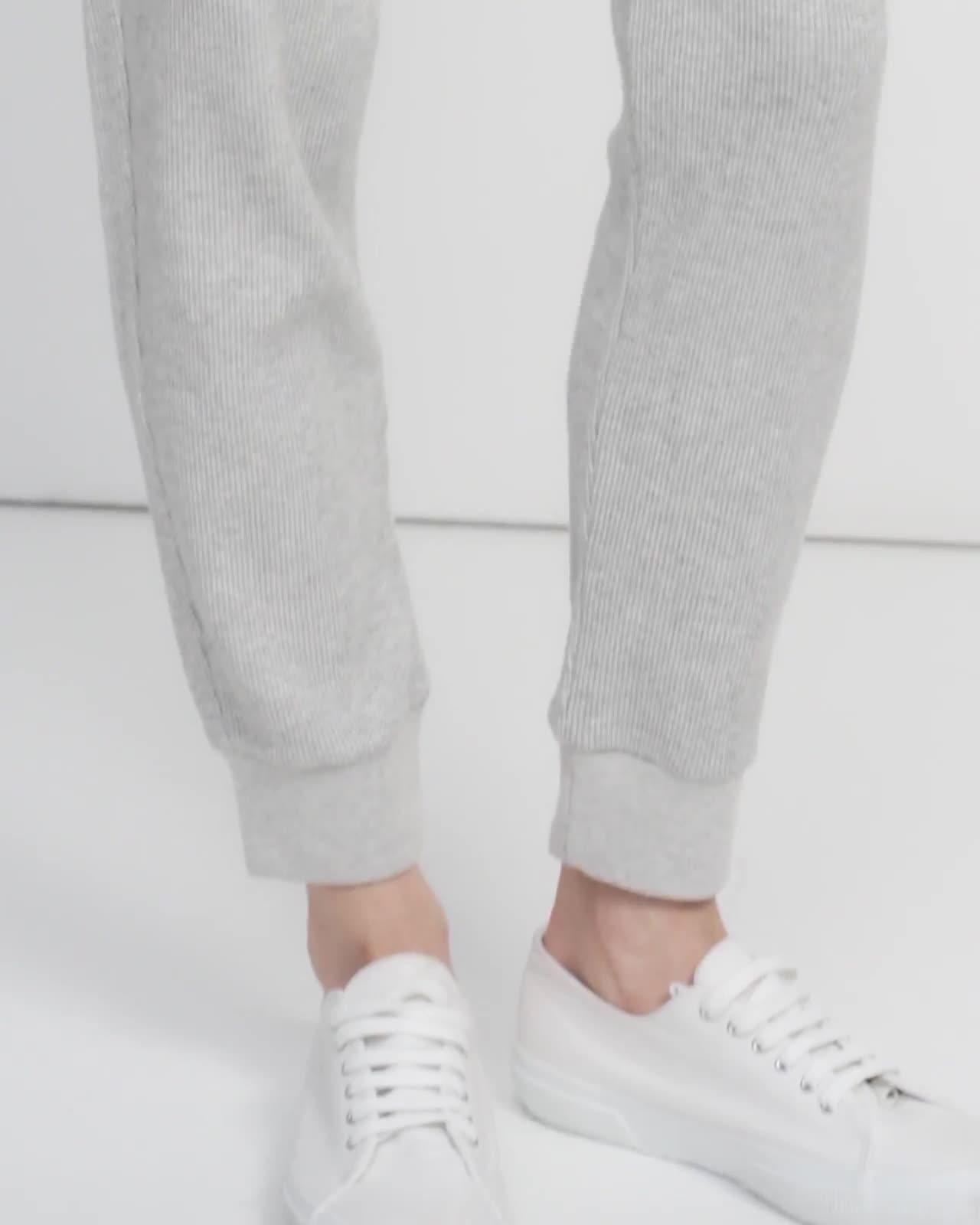 Weekend Jogger in Waffle Knit Cotton