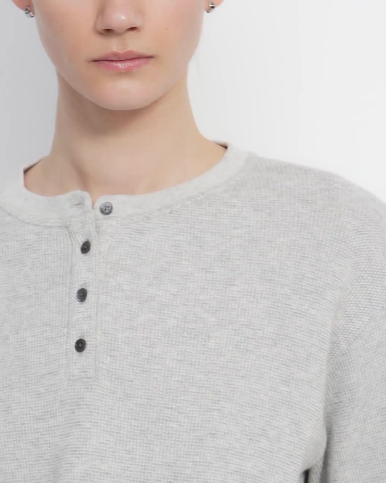 Weekend Henley Shirt in Waffle Knit Cotton