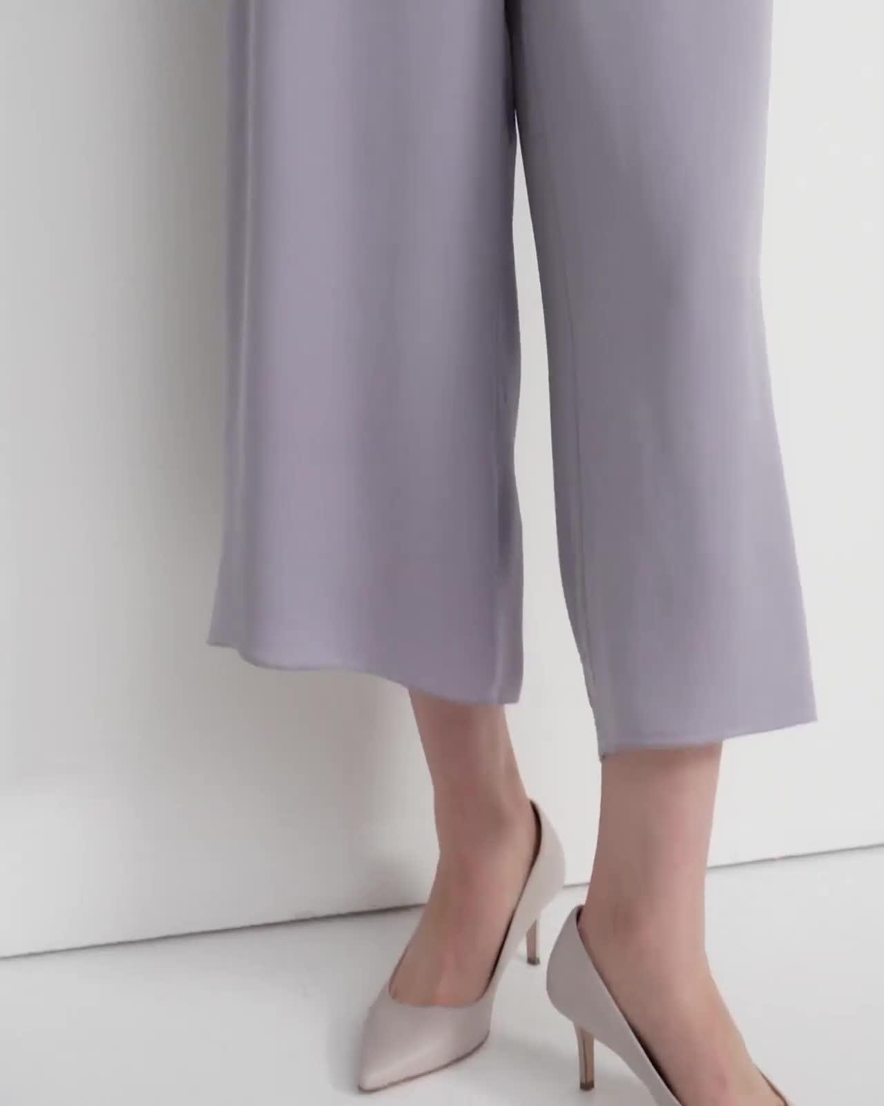 Draped Jumpsuit in Silk