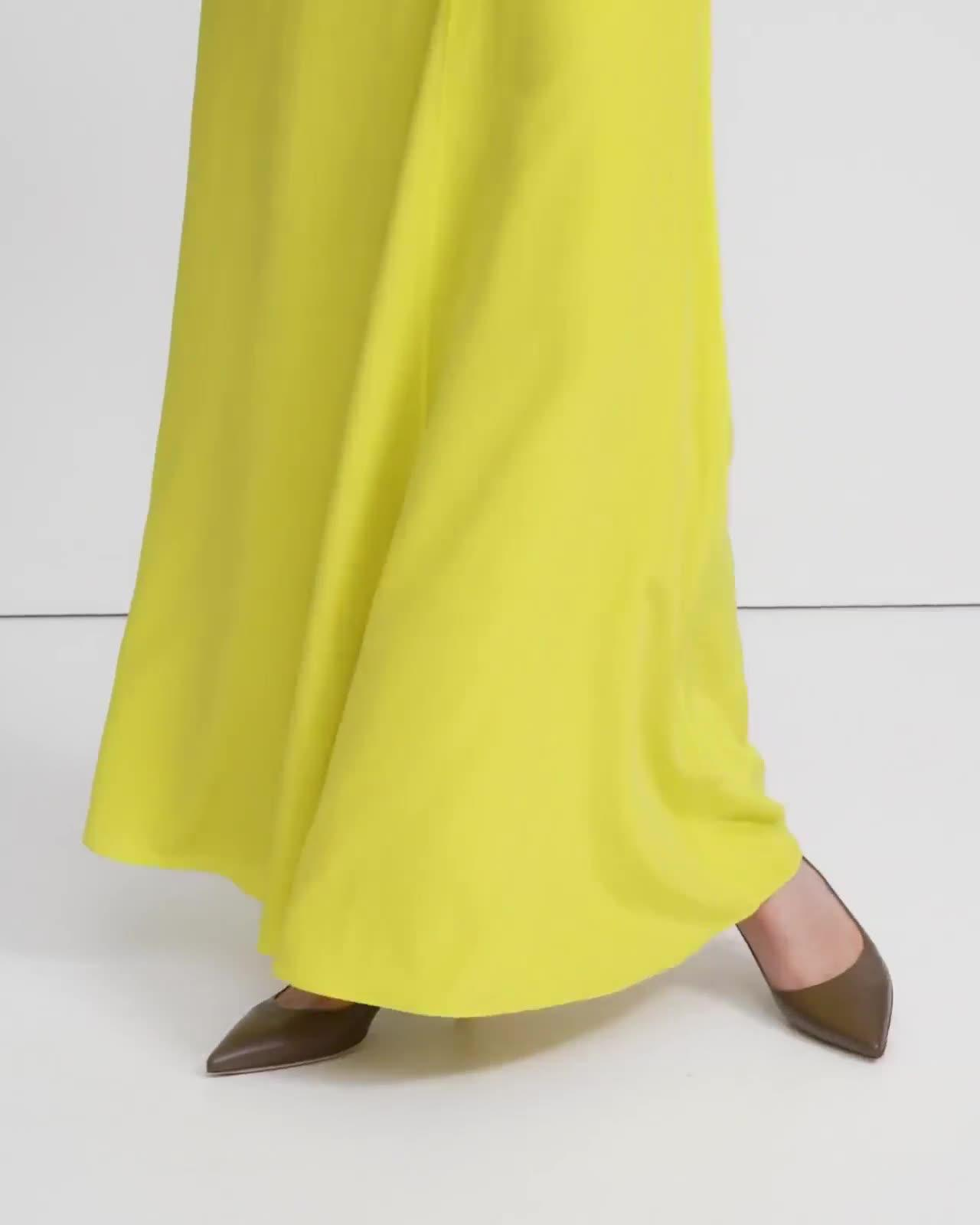 Asymmetric Drape Skirt in Sandwashed Silk