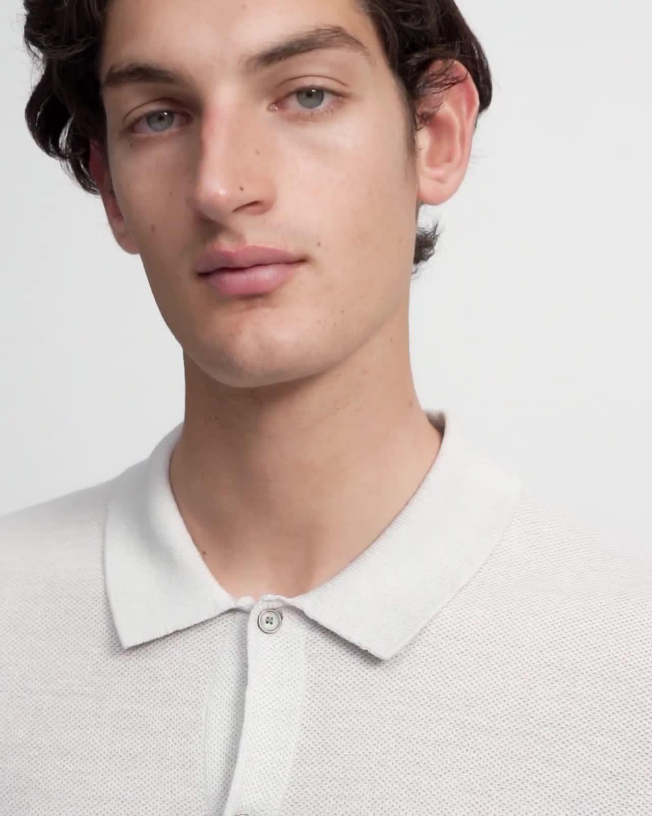 Short-Sleeve Shirt in Linen Mix