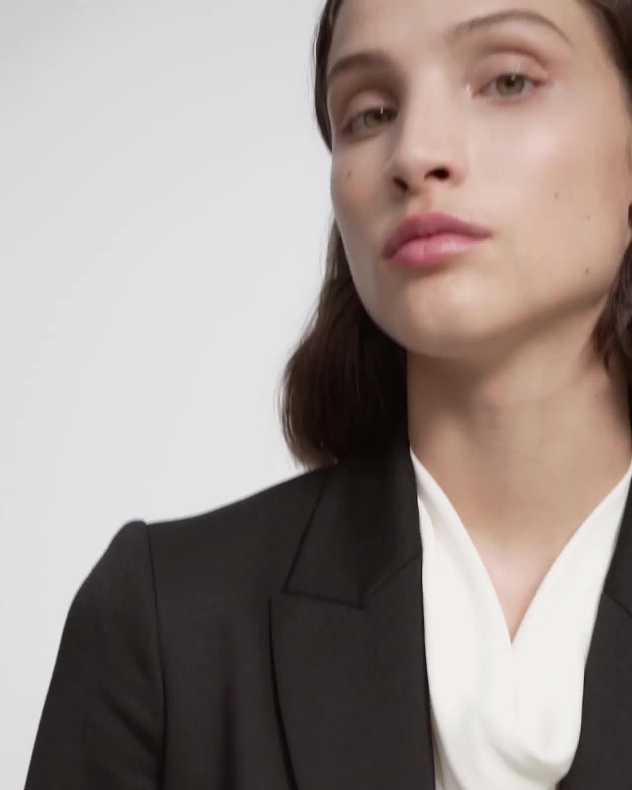 Etiennette Blazer in Piqué Cotton