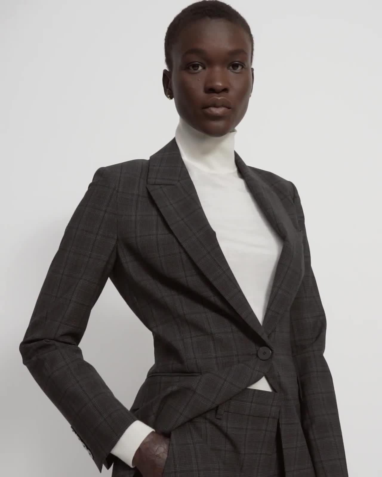 Etiennette Blazer in Plaid Good Wool