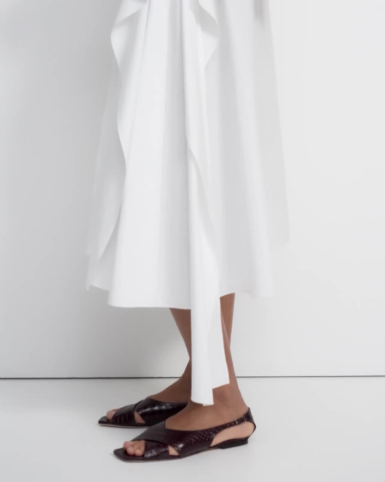 Sarong Skirt in Stretch Cotton