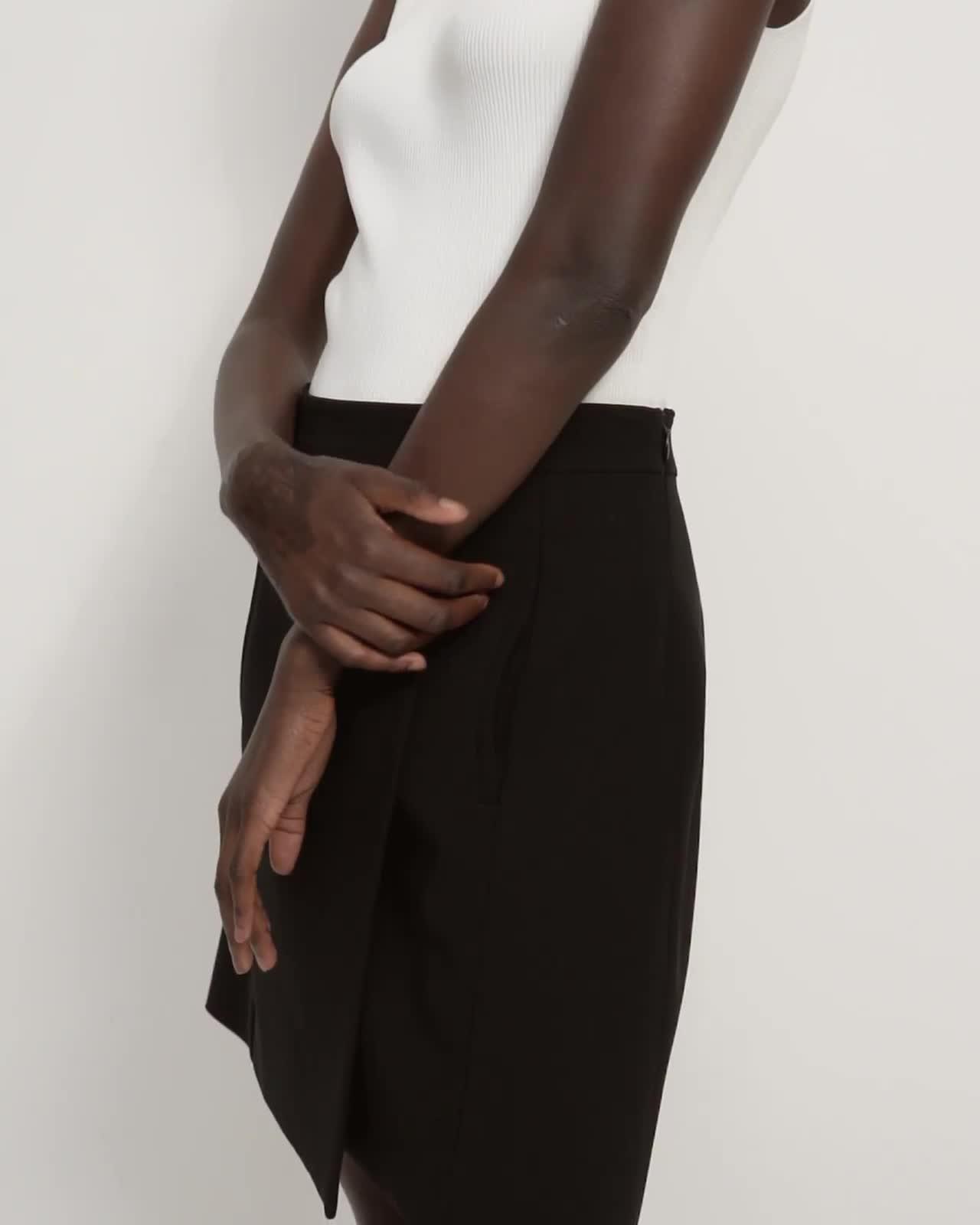 Staple Wrap Skirt in Crepe