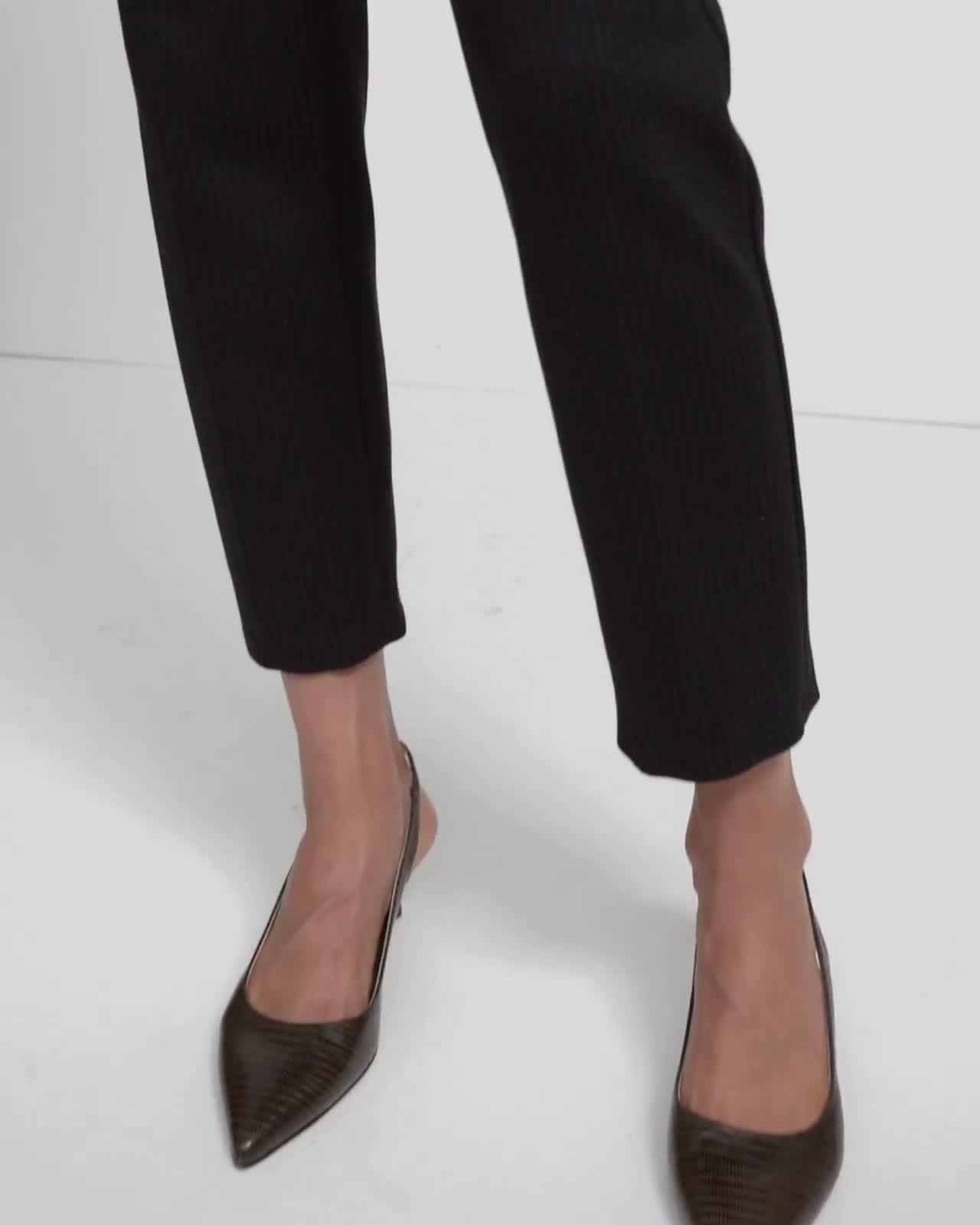 Treeca Pull-On Pant in Striped Viscose Knit