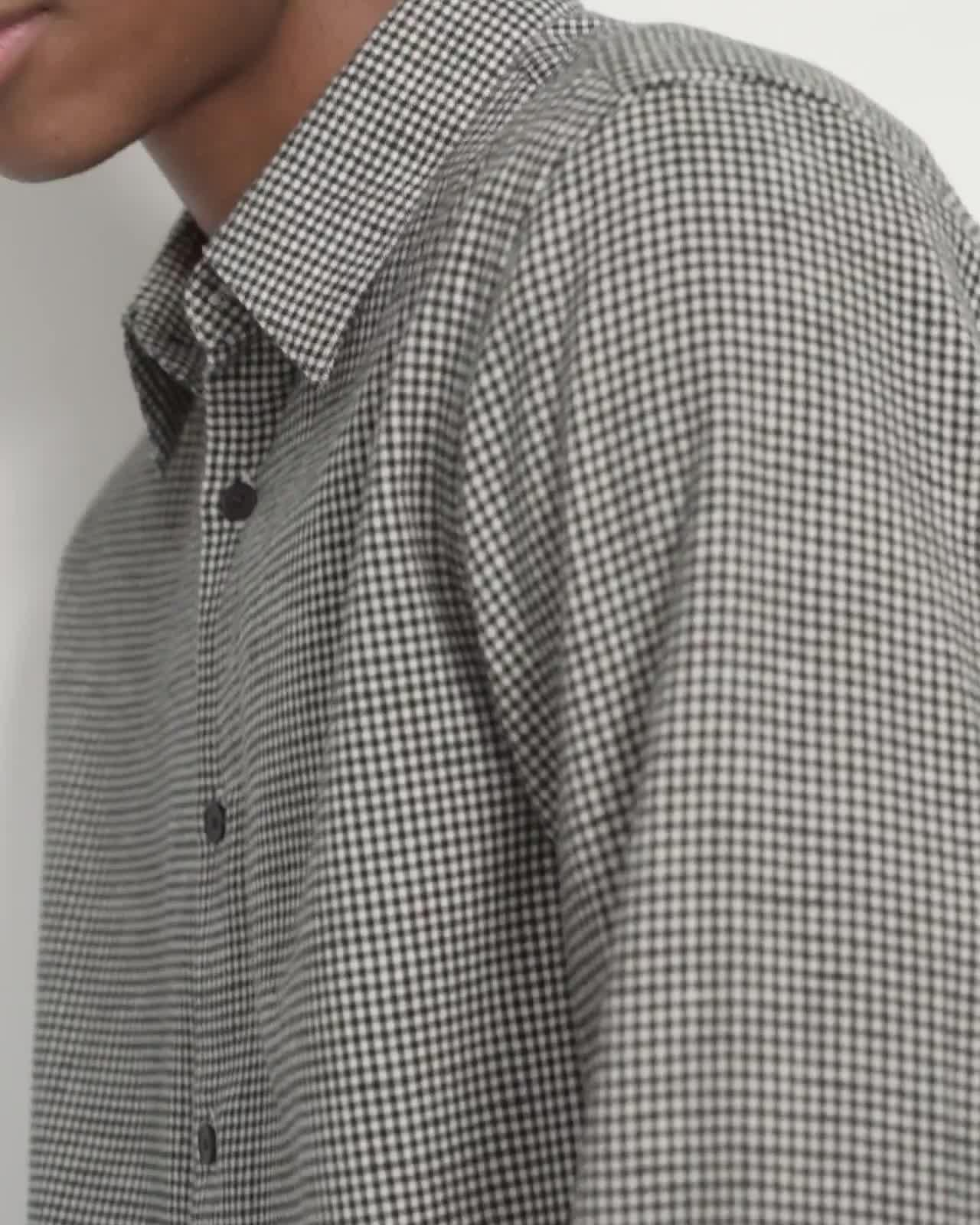 Irving Shirt in Gingham Cotton Blend