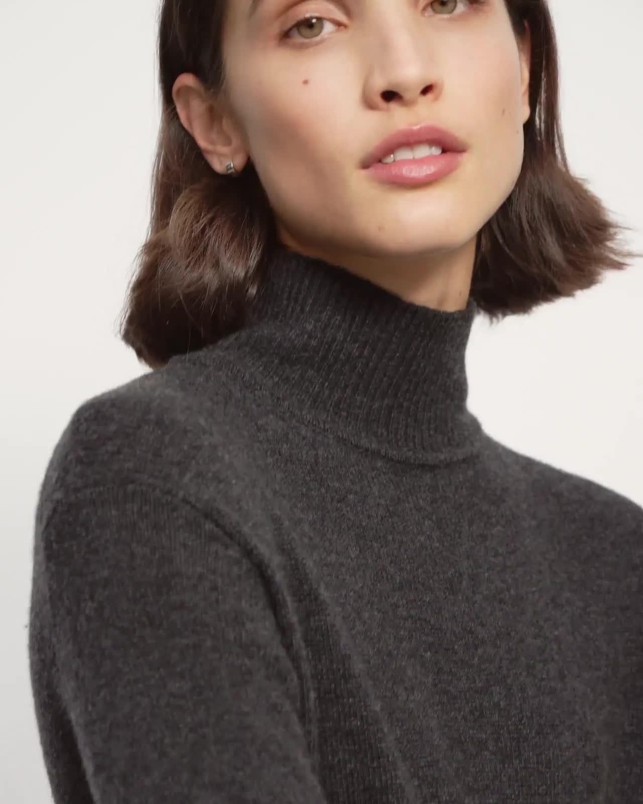 Turtleneck Jumpsuit in Wool-Cashmere