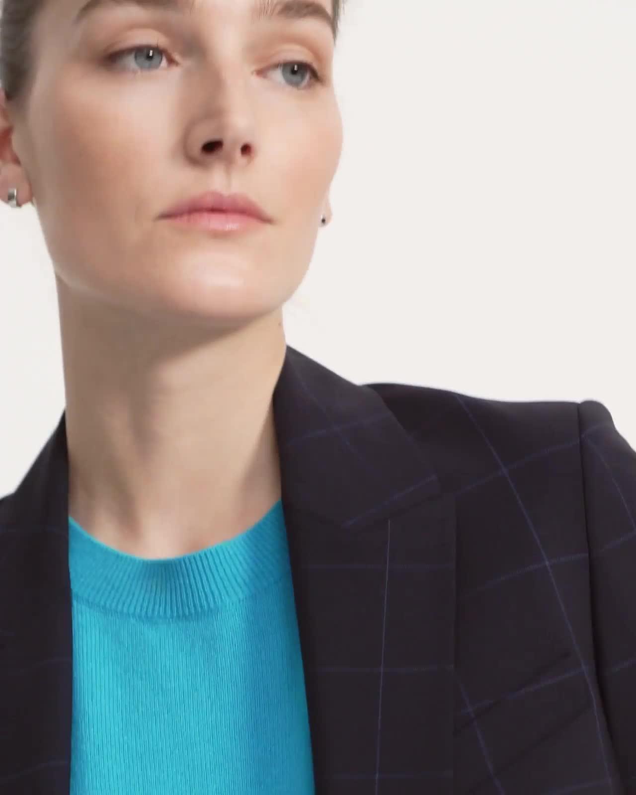 Etiennette Blazer in Grid Good Wool