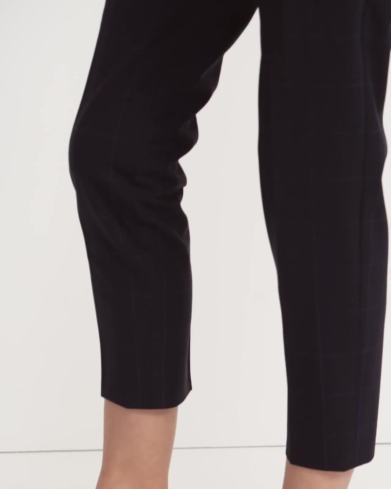 Treeca Pant in Grid Good Wool