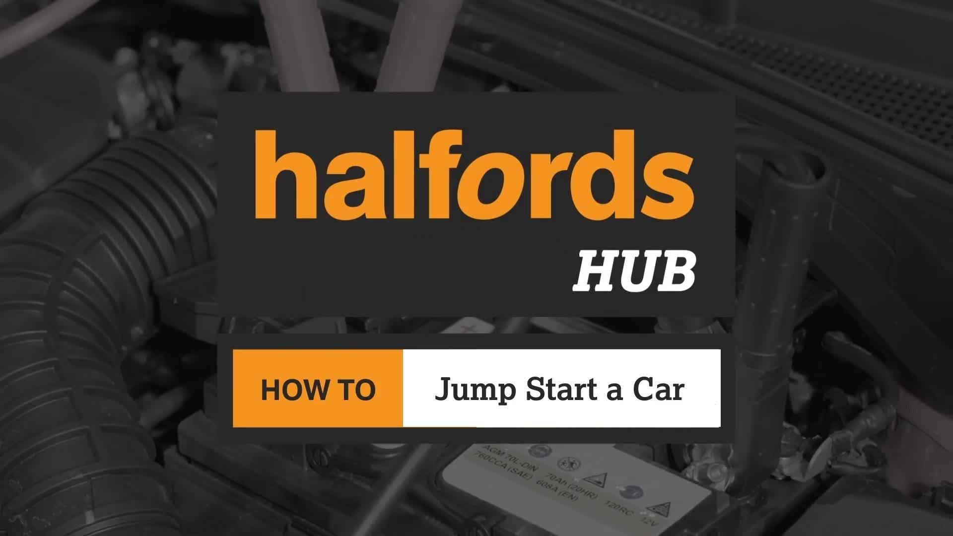 How To Jump Start A Car Halfords Advice Centre Engine On Stand Wiring