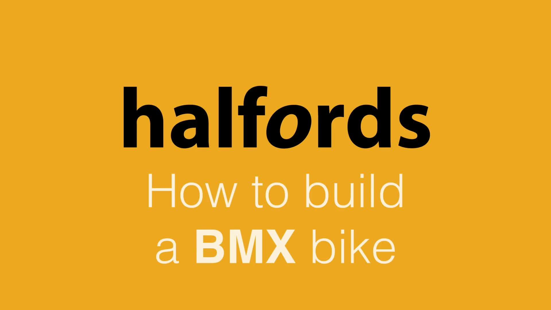 Halfords Advice Centre How To Build A Bmx Bike From Car Amp Wiring Kit
