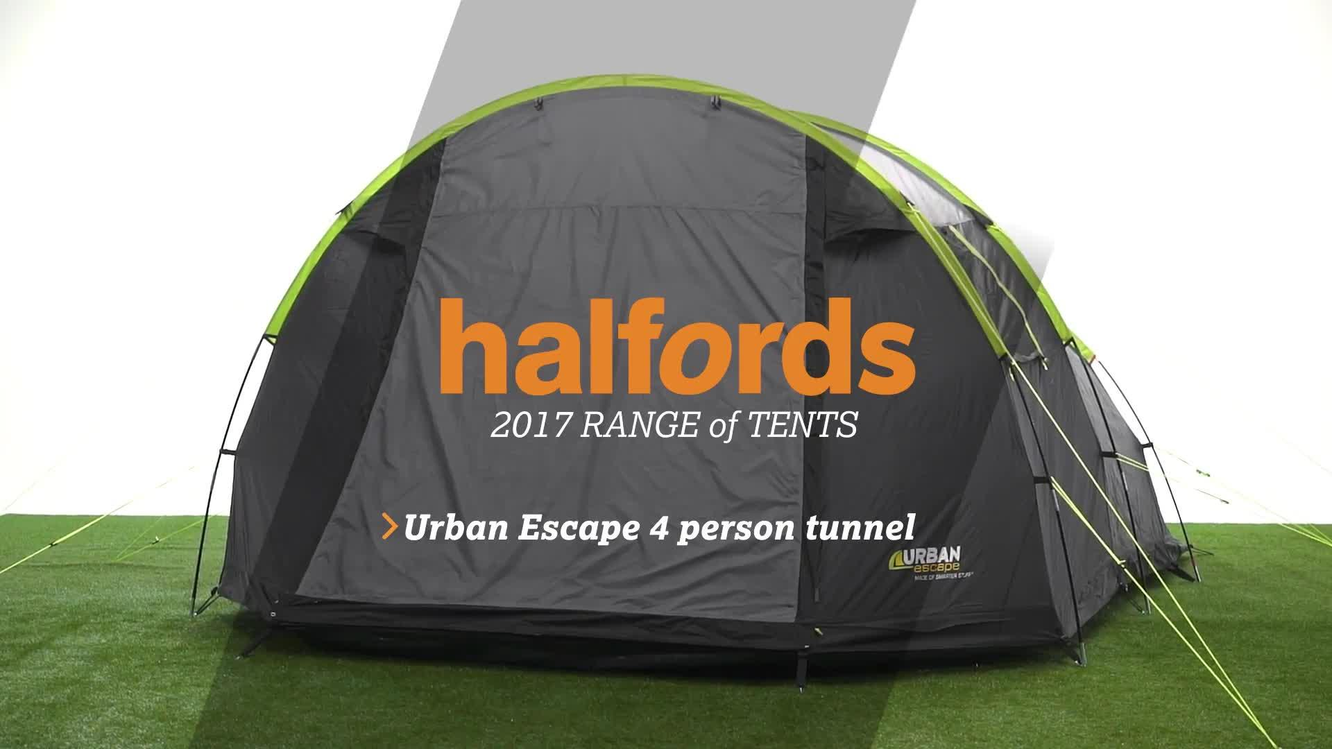 sc 1 st  Halfords & Urban Escape 4 Man Tunnel Tent