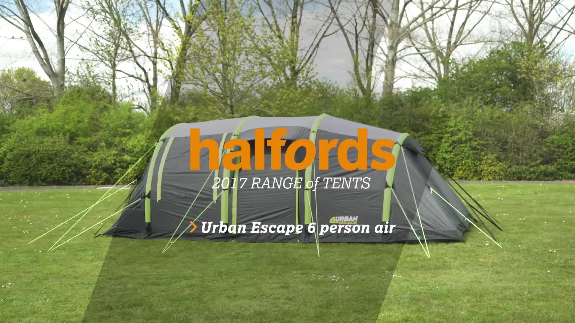 & Urban Escape 6 Man Inflatable Tent