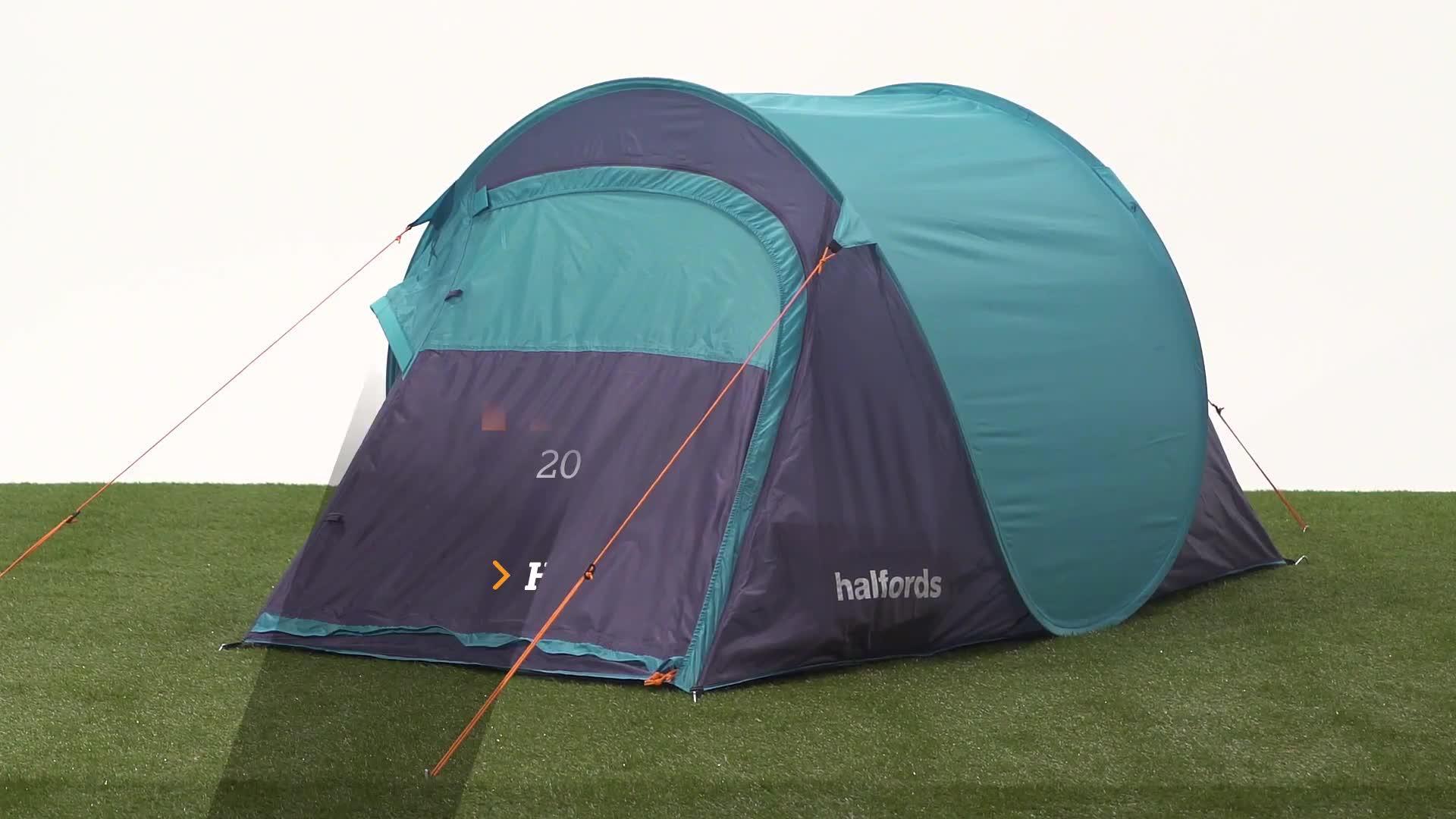 & Halfords 2 Man Pop Up Tent